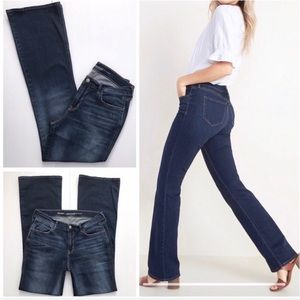 Micro Flare Jeans Med Dark Wash Old Navy size 8